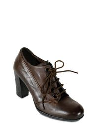 Collection Privée - Brown High Heel Lace-up Shoes - Lyst