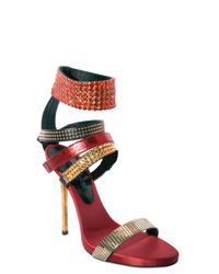 Diego Dolcini | Multicolor Swarovski and Studs Sandals | Lyst