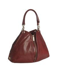 Kooba | Red Leather Jagger Zip Expandable Shoulder Tote | Lyst