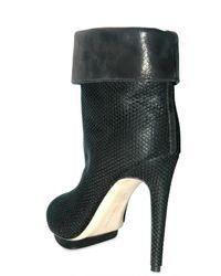 Max Kibardin | Black Open-toe Mesh Ankle Boots | Lyst