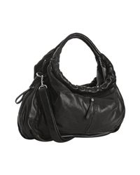 Sondra Roberts | Black Lambskin Leather Tribeca Hobo | Lyst