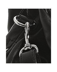 Sondra Roberts - Black Lambskin Leather Tribeca Hobo - Lyst
