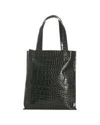 Furla - Green Malachite Croc Embossed Leather Tote - Lyst