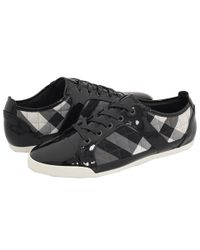 Burberry | Quilted Black and Grey Check Nylon Trainers | Lyst
