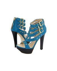 Giuseppe Zanotti | Blue Leather Sandals | Lyst