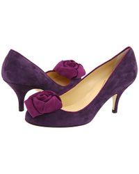 kate spade new york | Purple Bloom Pump | Lyst