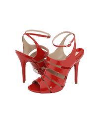 Michael Kors | Red Leather Sandals | Lyst