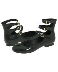Vivienne Westwood | Black Anglomania + Melissa 3 Straps Flat | Lyst