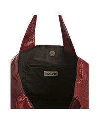 Beirn   Red Scarlet Snakeskin Erica East/west Tote   Lyst