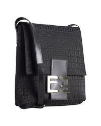 Fendi | Black Zucchino Canvas Small Messenger Bag | Lyst