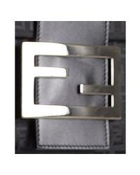 Fendi - Black Zucchino Canvas Small Messenger Bag - Lyst