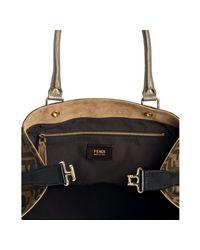 Fendi | Brown Star Stud Detail Mongrammed Bag | Lyst