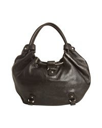 Ferragamo - Brown Leather Gathered Handle Hobo Bag - Lyst