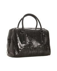 Givenchy | Black Vinyl Logo Print Medium Boston Bag | Lyst