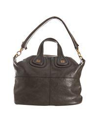 Givenchy - Gray Dark Grey Calfskin Nightingale Moyen Bag - Lyst