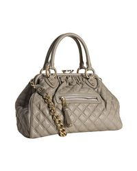 Marc Jacobs | Gray Grey Quilted Leather Stam Handbag | Lyst