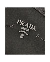 Prada - Gray Sport Charcoal Nylon Logo Plate Saffiano Trim Sneakers - Lyst