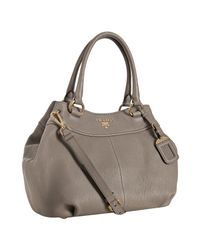 Prada | Brown Clay Pebbled Leather Sacca 2 Manici Shoulder Bag | Lyst