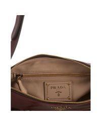 Prada - Red Amaranth Vitello Shine Leather Sacca Sottospalla Bag - Lyst