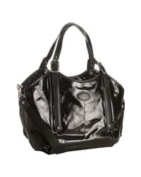 Tod's | Black Coated Canvas G-bag Easy Tote | Lyst