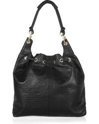 BCBGMAXAZRIA - Black Tejus Leather Hobo Bag - Lyst