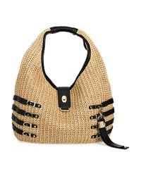 Jimmy Choo Natural Bali Woven Raffia Hobo Bag