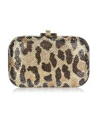 Judith Leiber Multicolor Leopard-print Fine Crystal-embellished Clutch
