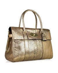 Mulberry Metallic Bayswater Python Bag