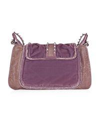 3.1 Phillip Lim Purple Edie Bow-embellished Velvet Bag