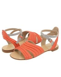 Proenza Schouler | Orange Leather Sandals | Lyst