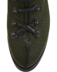 Rag & Bone Green Mallory Leather Lace-up Ankle Boots