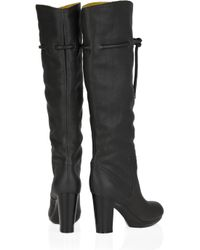 See By Chloé | Gray Fleece-lined Leather Platform Boots | Lyst