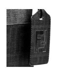 Fendi - Black Zucca Spalmati Small Flat Messenger Bag - Lyst