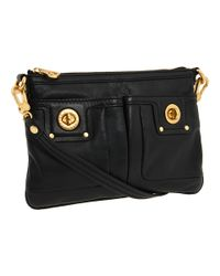 Marc By Marc Jacobs | Black Totally Turnlock Percy Crossbody Bag | Lyst