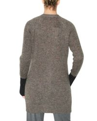 See By Chloé | Brown Bicolor Mohair Knit Sweater | Lyst