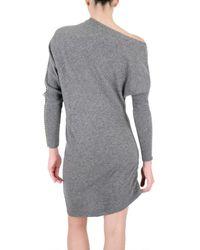 Space | Gray Wool Kimono Dress | Lyst