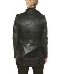 Trosman   Black Waxed Wool Cloth Jacket   Lyst