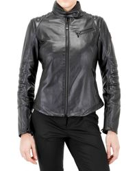 Tru Trussardi - Black Rain Stop Leather Jacket - Lyst