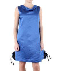 Saint Laurent | Blue Cashmere Duchesse Dress | Lyst