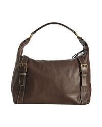 Dolce & Gabbana - Brown Leather Hobo Shoulder Bag - Lyst