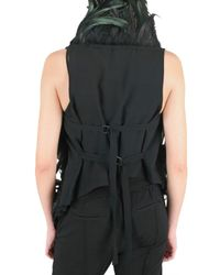 Ann Demeulemeester - Black Red Rooster Feather Vest - Lyst
