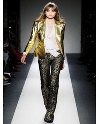Balmain | Soft Metallic Nappa Leather Jacket | Lyst