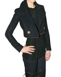 Burberry Prorsum | Blue Two-in-One Virgin Wool-Blend Coat | Lyst