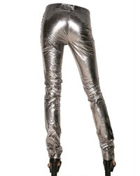 CoSTUME NATIONAL - Metallic Lamé Trousers - Lyst