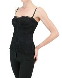 Dolce & Gabbana | Black Lace Bustier Top | Lyst