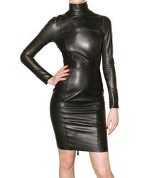 DSquared² | Black Leather Dress | Lyst