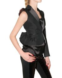 DSquared² - Black Silk Cotton Cloth One Sleeve Jacket - Lyst