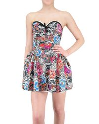 DSquared² | Multicolor Tattoo Print Bustier Dress | Lyst