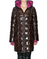 Duvetica | Brown Edona Long Down Jacket | Lyst