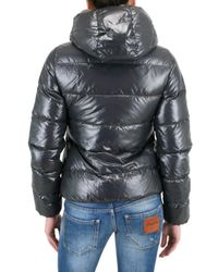 Duvetica   Gray Thia Shiny Nylon Down Jacket   Lyst